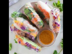 Fresh Homemade Spring Rolls