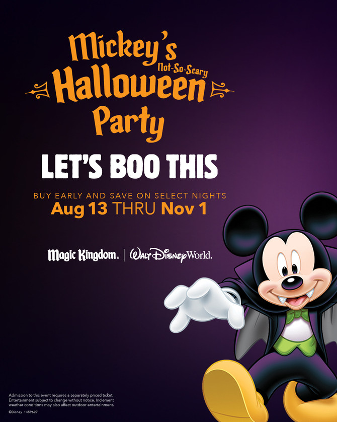 Mickey's Not So Scary Halloween Party 2020 Dates Announced