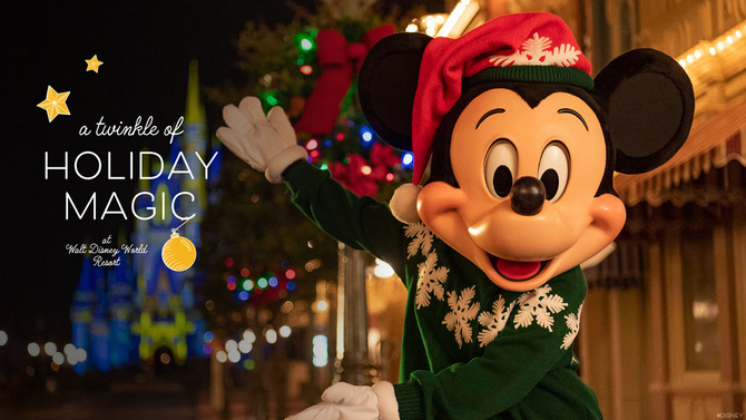 The holidays are coming to Disney World