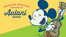 Dine with Disney Friends at Aulani Resort's Character Breakfast Returning to Makahiki Restaurant on