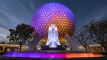 New Entrance Fountain at Epcot Celebrates Past-Present-Future of EPCOT