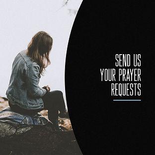 Send Us Your Prayer Requests Half Black