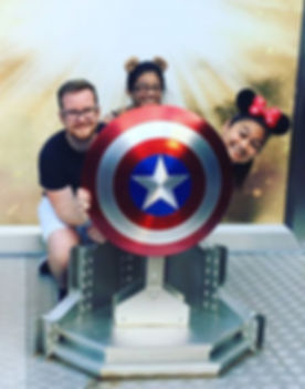 Hiding from our problems behind Captain America's shield... that'll keep them away right_ 🛡🇺🇸✨ _j