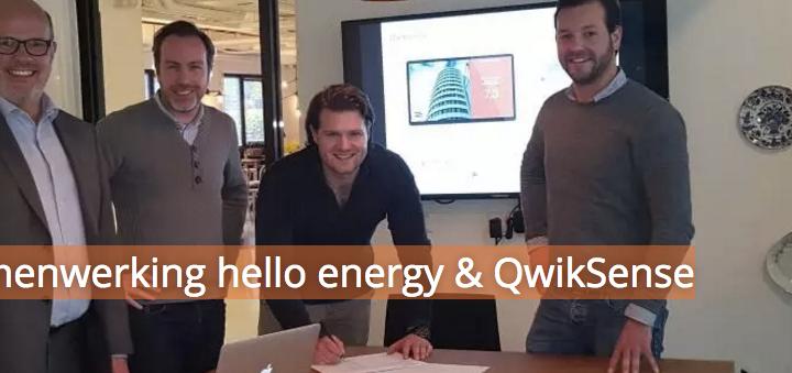 Samenwerking hello energy & QwikSense