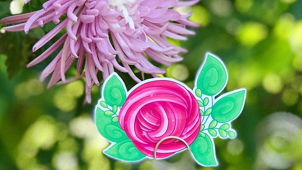 Slime Rose Vinyl Sticker