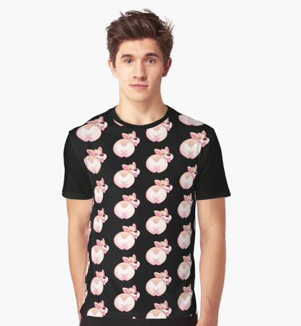 Corgi Butt Graphic T-Shirt