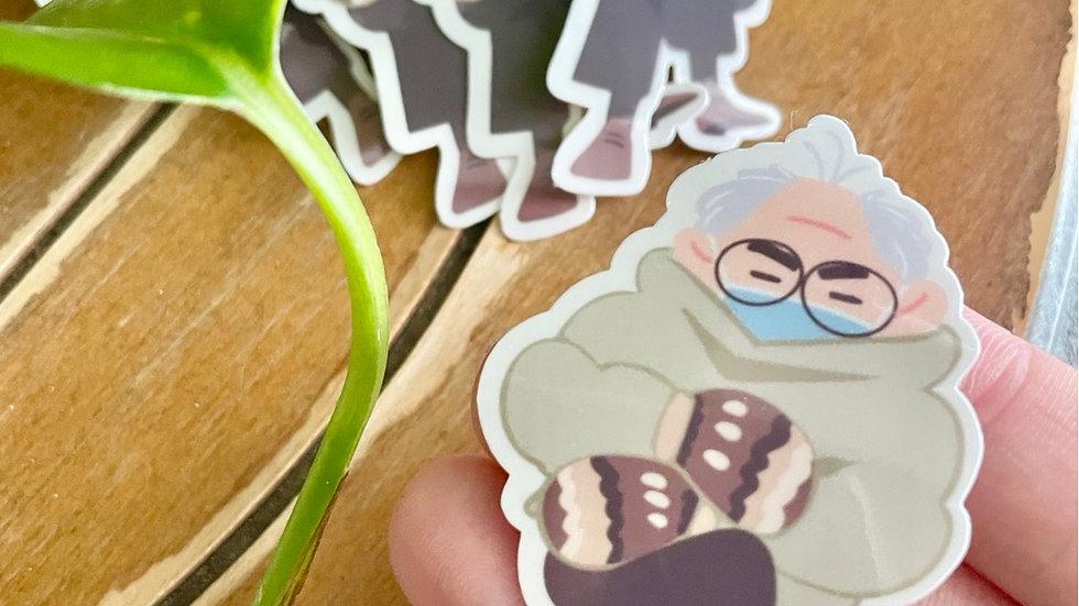 Bernie's Mittens Sticker