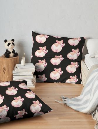 Corgi Butt Floor Pillow