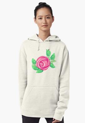 Slime Rose Pullover Hoodie
