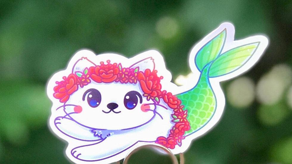 Purr-maid Sticker