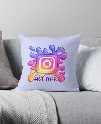 #Slimer Throw Pillow