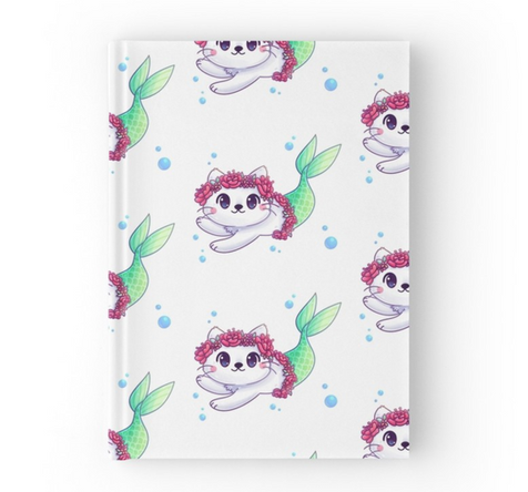 Purr-maid Hardcover Journal