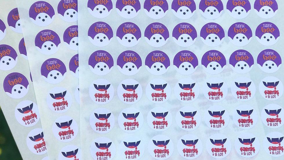 Mini Halloween Thank You Stickers (63)
