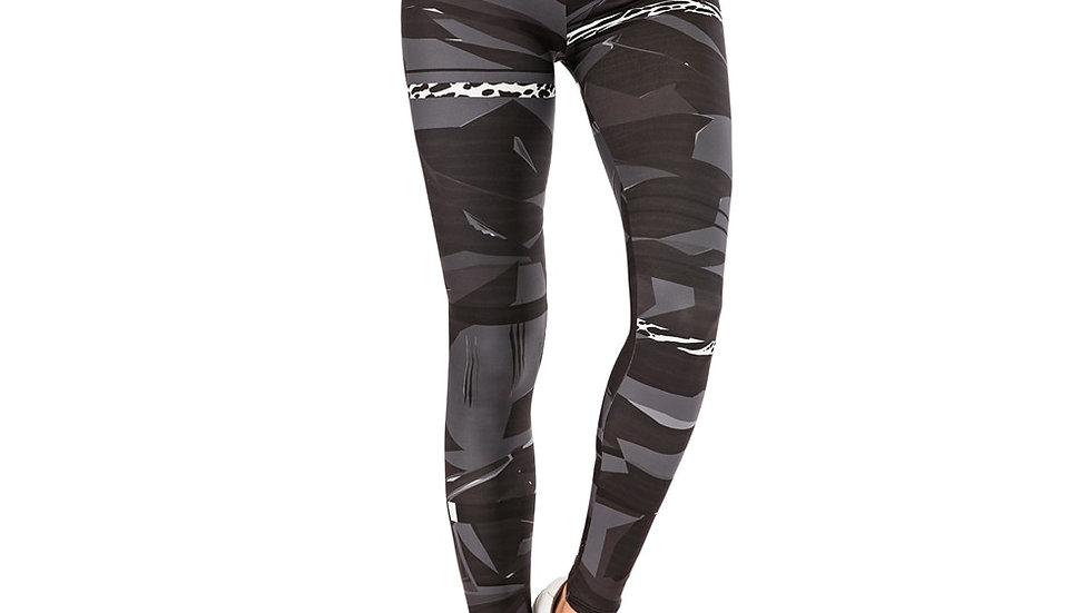 Geometric Stitching Leopard Printing Fitness Slim  Stretchy Leggings