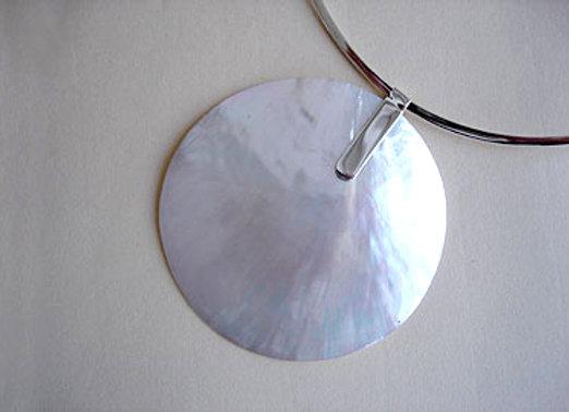 Hanger parelmoer XL, eenvoudig oog