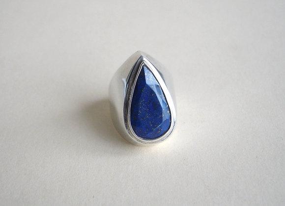 Ring lapis lazuli, druppelvorm