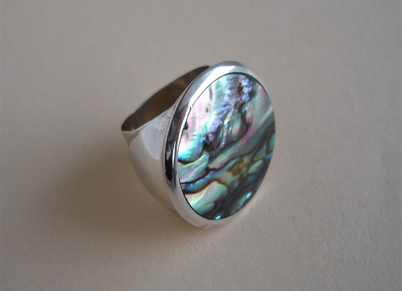 Ring abalone schelp, rond