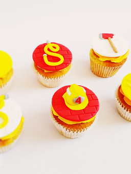 Fire brigade cupcakes