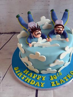 Birthday novelty cakes