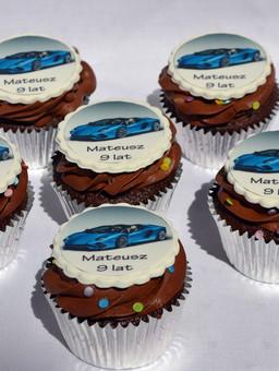 Lamborghini cupcakes