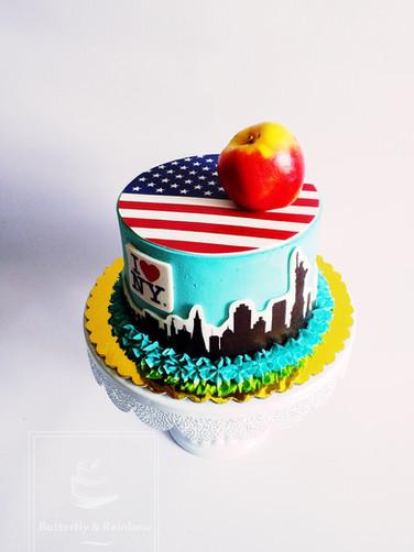 NY themed cake