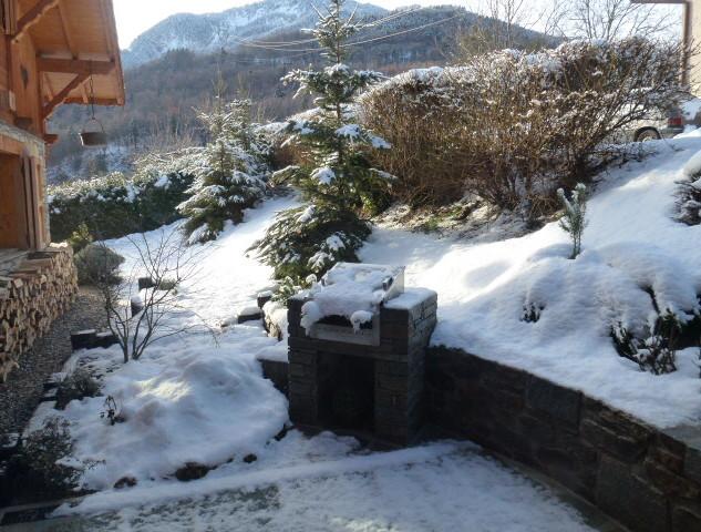 Barbecue sous la neige