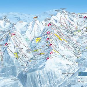 3 vallees plan pistes