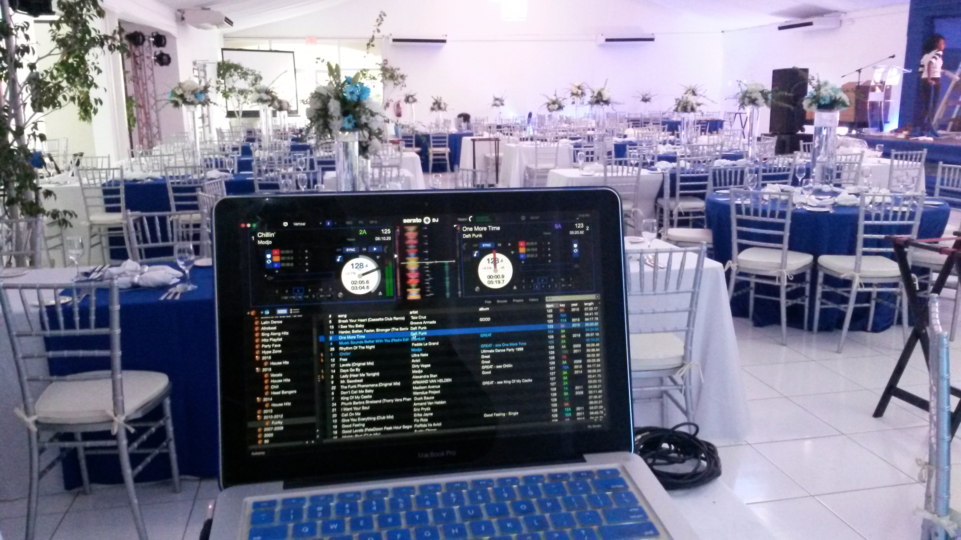 DJ Set up for a corporate event