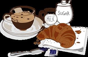 Coffee set for breakfast