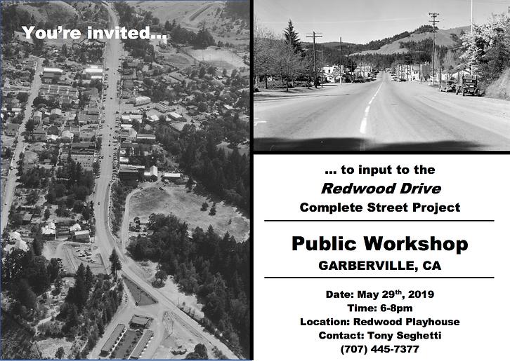 Public Workshop Postcard - Garberville R