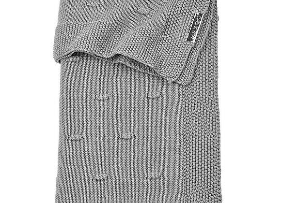 Wiegdeken knots grey