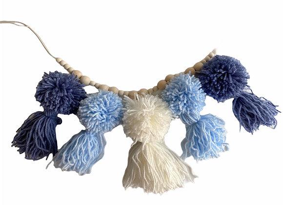 Pom tassel slinger blue