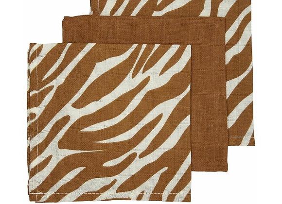 Hydrofiel monddoekjes Camel zebra