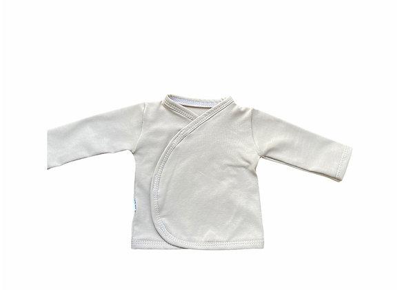 Prematuur overslag shirtje zand