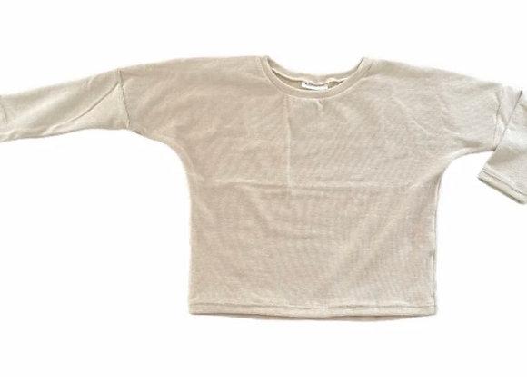 Oversized sweater rib beige