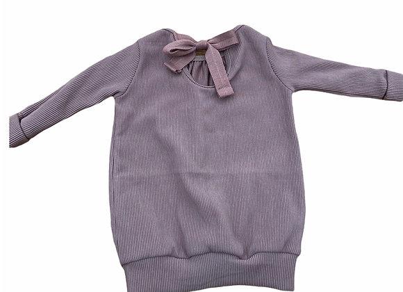 Sweaterdress rugdetail Kiki