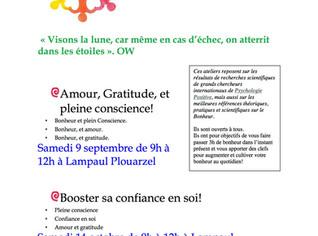 Nouvelle dates d'Atelier du Bonheur en Bretagne de Fany!