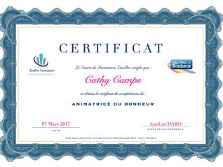 Animatrice Certifiée