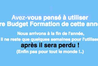 """Budget Formation 2016 : dépensez """"votre"""" argent"""