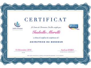 Isabelle Morelli animatrice certifiée