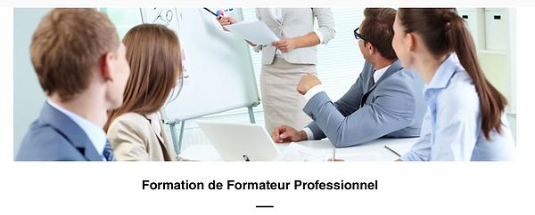 Formation de Formateur Professionnel