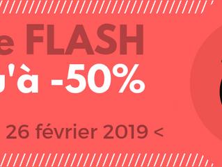 Notre vente flash du mardi 26 février !