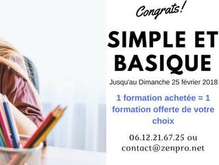 [Simple et Basique] 1 formation achetée = 1 formation offerte de votre choix
