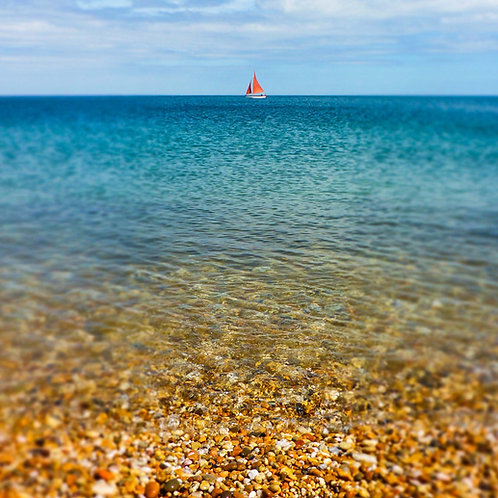 Red Boat sailing Slapton