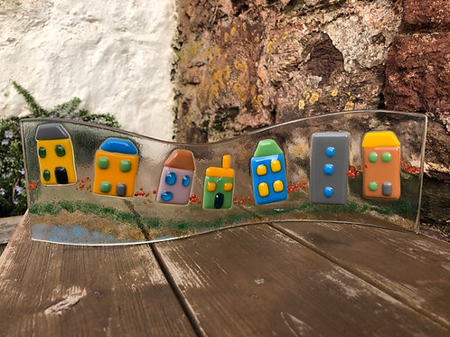 Fused glass houses