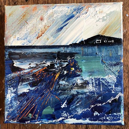 Burgh Island on canvas