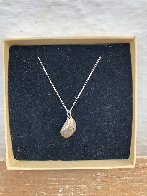 Silver Mussel Shell Necklace