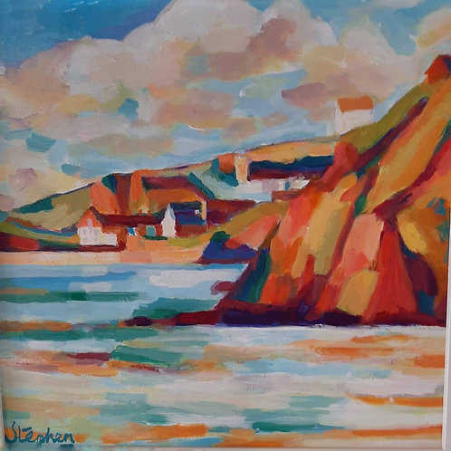 Hope Cove Harbour Beach view