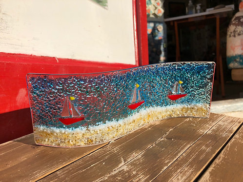 Fused Glass Sailing Boats