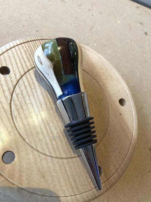 Wooden bottle stopper